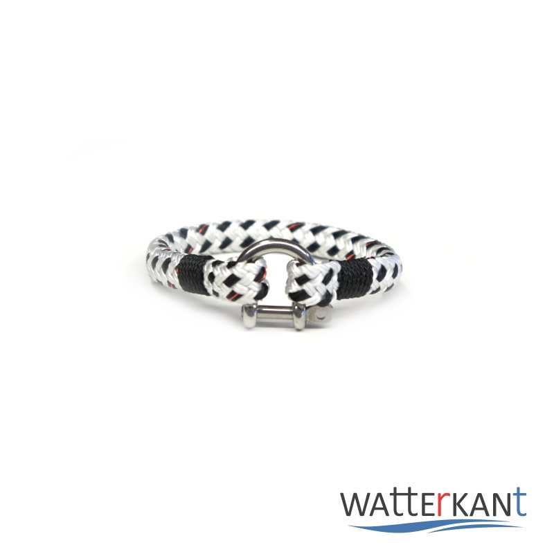 Armband aus Segeltau mooring schwarz