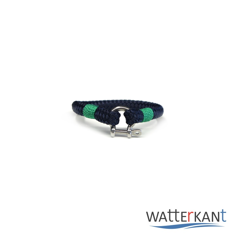 Armband aus Segeltau sheet marineblau grün