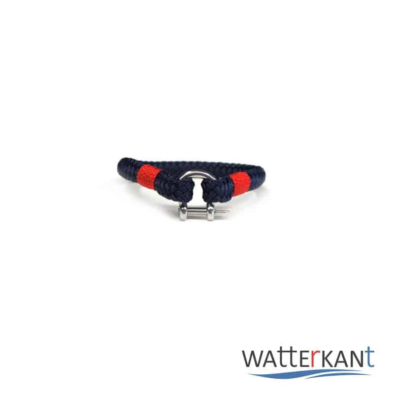 Armband aus Segeltau sheet marineblau rot