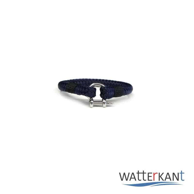 Armband aus Segeltau sheet marineblau schwarz