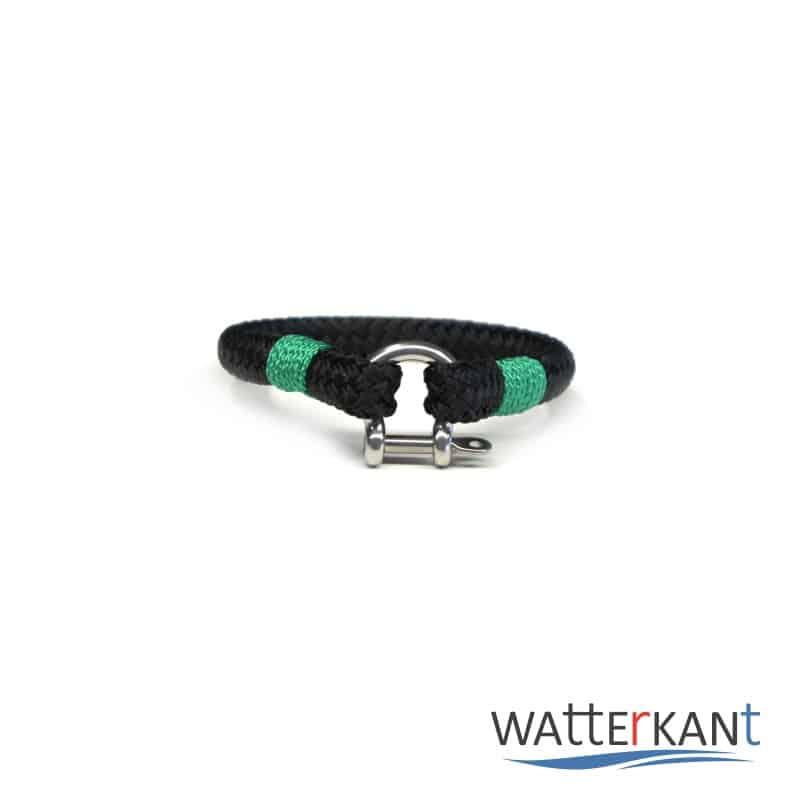 Armband aus Segeltau sheet schwarz grün