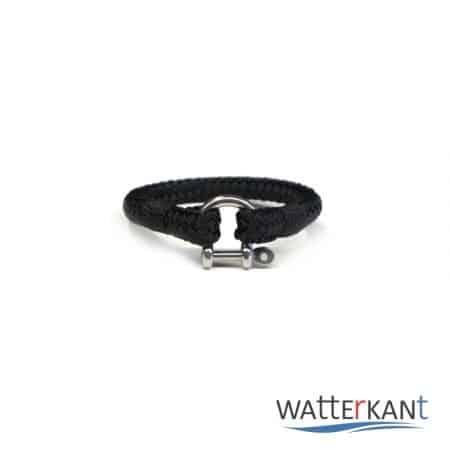 Armband aus Segeltau sheet schwarz