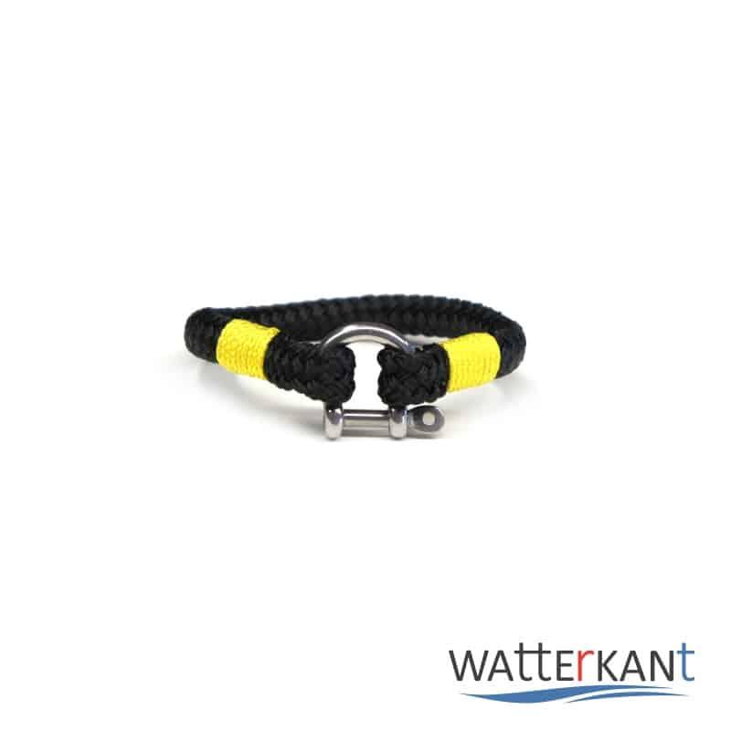 Armband aus Segeltau sheet schwarz gelb