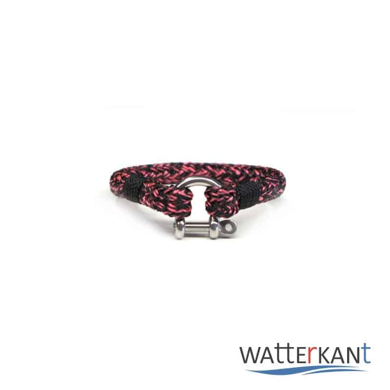 armband aus segeltau halyard rosa