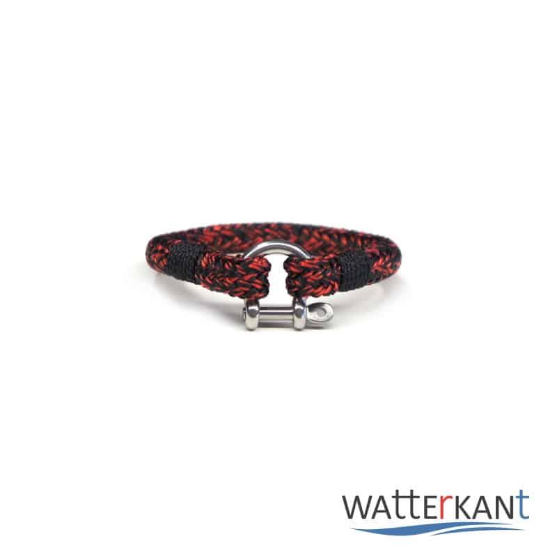 armband aus segeltau halyard rot