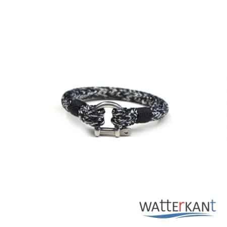 armband aus segeltau halyard weiß